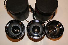 (3) Tele Rikenon 100mm f 2.8 Portrait Lenses for Ricoh 126C Flex TLS camera
