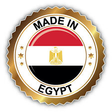 Made In Egypt Label Car Bumper Sticker Decal 5'' x 5''