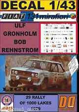 DECAL 1/43 FIAT 131 ABARTH ULF GRONHOLM 1000 LAKES 1979 (LIGHT) (01)