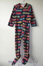 HANNA ANDERSSON Snugglesuit Jammies Feet Footed Sleeper Navy Trains 120 6-7 NWT