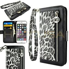 For Apple iPhone 6 Plus Cheetah Leopard Luxury Card Wallet Flip Case Cover