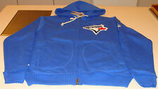 2014 Toronto Blue Jays Authentic Collection M Clubhouse Hoody Full Zip Fleece