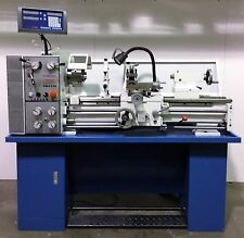 "PM1236PEP METAL LATHE WITH 2-AX DRO, 1-1/2"" SPINDLE BORE, QCTP, 3&4 JAW CHUCKS"