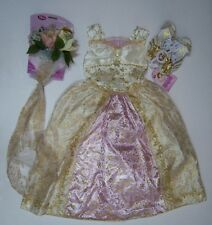 NWT Disney Tangled Ever After S 5/5T-6 Rapunzel Wedding Costume Veil Ring Shoes
