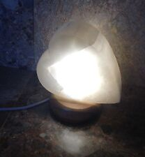 Large Selenite Crystal Heart Lamp, White, 2.2kg, Reiki, Healing, Angel Stone