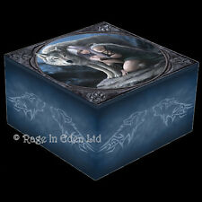 *PROTECTOR* Goth Wolf Art Trinket Box With Mirror By Anne Stokes
