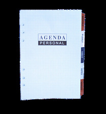 6 Hole Standard A5  Filofax Agenda  116 pages with address Index