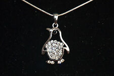 "Penguin pendant Necklace 16"" silver & Multi color Buy 3 get 1 FREE & SHIP FREE"