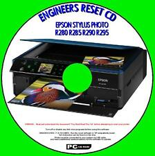 EPSON STYLUS R280 R285 R290 R295 PRINTER WASTE INK PAD RESET UTILITY NEW CD