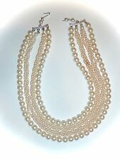 VINTAGE JAPAN - BEAUTIFUL 4-STRAND FAUX-PEARL NECKLACE