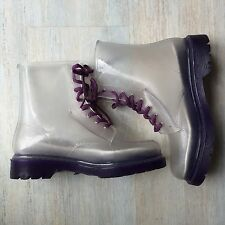 Clear Plastic Purple Boots Martin Festival Wellington Docs Dr 6 Wellies