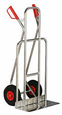 Alu-Sackkarre breite Ausführung bis 200 kg mit pannensicheren Vollgummi-Rädern