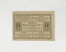 RICHTERS BAUVORLAGEN HEFT NR. 2 ANKER STEINBAUKASTEN ARCHITECTURAL MODELS 1900