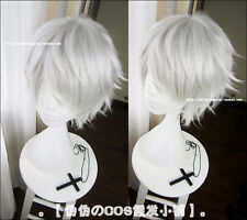Tokyo Ghoul Cosplay Wig Men's Silver White Short Straight Hair Anime Party Wigs