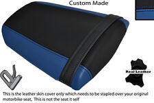 ROYAL BLUE & BLACK CUSTOM FITS HONDA CBR 600 RR 07-12 REAR LEATHER SEAT COVER