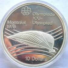 Canada 1976 Olympic Velodrome 10 Dollars 1.4454oz Silver Coin,Proof