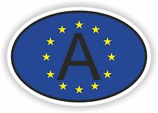 OVAL EUROPEAN UNION FLAG WITH A COUNTRY CODE STICKER AUSTRIA MOTOCYCLE AUTO
