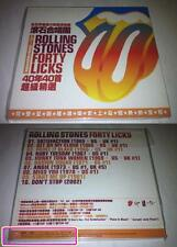 Rolling Stones 2002 Forty Licks Taiwan 10 Track Promo CD Sampler 48 Page Booklet