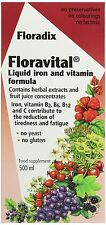 Floradix Floravital Yeast And Gluten Free Liquid Iron and Vitamin Formula 500ml