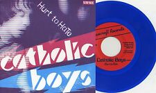 "Catholic Boys - Hurt To Hate 7"" BLUE VINYL Teenage Rejects Jay Reatard Reatards"