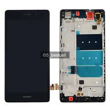 full Touch Display LCD mit Rahmen Komplett für Huawei P8 Lite schwarz Reparatur