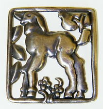VINTAGE 1930'S STERLING ART DECO BROOCH BY McCLELLAND BARCLAY