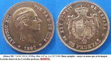 Año 1880 MSM. BONITA MONEDA de 25 pesetas. Alfonso XII - ORO  Peso 8,07 gr.