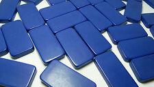 Vintage Double Six Dominoes - Original Case - Blue Color - 28 Rocks - Very GC