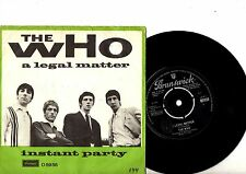 THE WHO 7'' PS A Legal Matter DENMARK MEGA RARE BRUNSWICK 05956 MOD Danish 45!!