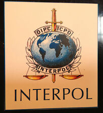 INTERPOL (POLICE)  FRIDGE MAGNET(84mm x 75mm) +   FREE MATCHING PHONE STICKER