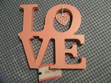 Stacked wood wooden letters pink LOVE L O V E Valentines Mothers Day gift