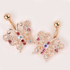 Body Piercing Navel Barbell Ring Hollow Butterfly Fashion Belly Button Stud