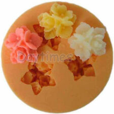 Flower Silicone Mold Mould for Polymer Clay Super Sculpey Resin Fimo 16mm A112