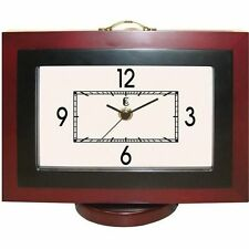 Geneva Wooden Photo Storage Quartz Clock Battery-Operated New Free US Shipping