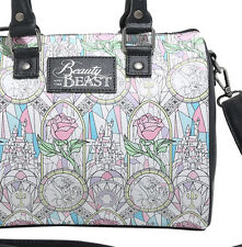 Disney Beauty & the Beast Loungefly Purse Stained Glass Shoulder Bag Satchel NWT