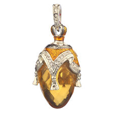 Faberge Egg Pendant / Charm with crystals 3.8 cm #PC-0587-5