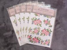 5 PACKS EVERYDAY MEMORIES RUB ON TRANSFER, ROSE EMBELLISHMENT