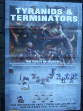 LARGE A1 SIZE WARHAMMER WHITE DWARF POSTER DOUBLE SIDED TYRANIDS AND LUSTRIA