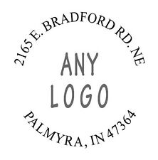 """Personalized Round """"Return Address"""" with LOGO Self Inking Rubber Stamp imp 9040"""