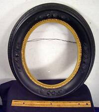 Antique Oval Raised Fruit Flower Wooden Picture Frame ! !