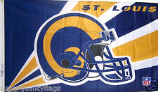 NEW 3x5 ft ST LOUIS RAMS EMERSON HELMET BANNER FLAG