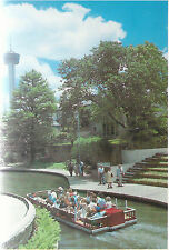San Antonio River & Arneson Theatre  San Antonio  TX   Unused  Chrome Postcard