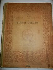 Antique Art History **The Great Masters in the Louvre Gallery** Huge Boooks 2 Vo