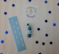 Fairy Footprints Stencil, Fairy Dust And Sticker - Ideal For Tooth Fairy - Blue
