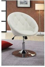 Vanity Stool Swivel Round Chair Seat Padded Bedroom Furniture White Adjustable