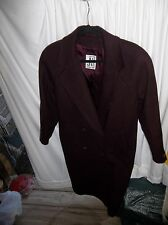 Jones New York Women's Maroon 100% Wool Size XL (16-18) Winter Coat NICE!