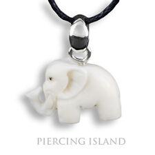 Kleiner Elefant ECHT Silber Bone Amulett Design Anhänger Handarbeit PB336