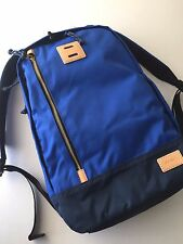 Fossil Men's Blue Black Heavy Duty Textile Sportsman Backpack MBG9268470 NWT