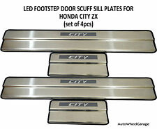 LED Footstep Scuff plates Sill plates for Honda City I-Vtec SET OF 4PCS
