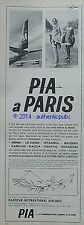 PUBLICITE PIA PAKISTAN INTERNATIONALE AIRLINES ROME ISTANBUL BAGDAD DE 1959 AD
